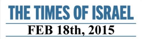 TIMES OF ISRAELFEB 18th, 2015