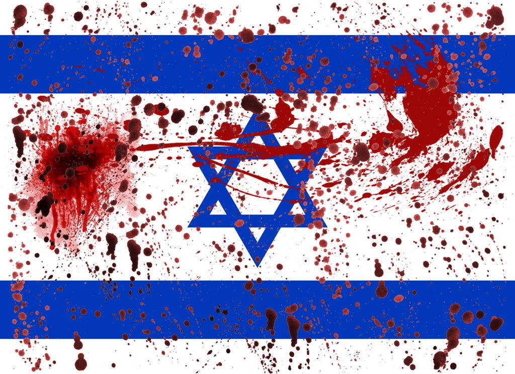 blood-spattered-flag-of-israel