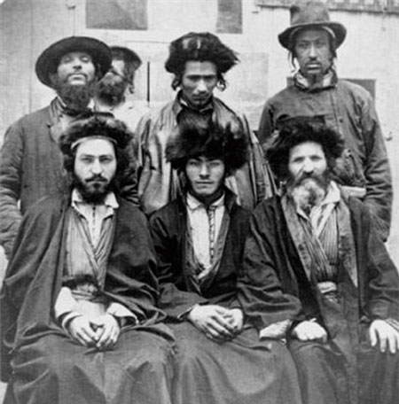 Khazar Jews in 1876. DNA studies show that today's Jews are descendents of the Khazars.